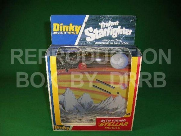 Dinky #362 Trident Star Fighter - Reproduction Box